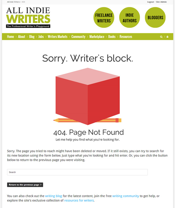 All Indie Writers 404 Page