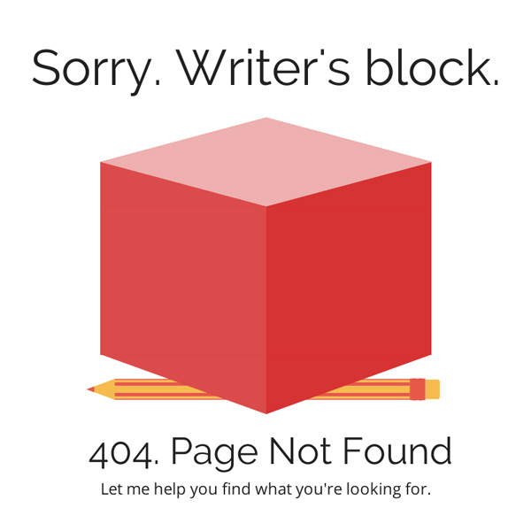 Sorry Writers Block 404 Page Not Found