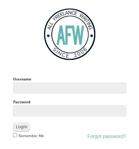 WordPress custom login logo - AllFreelanceWriting.com