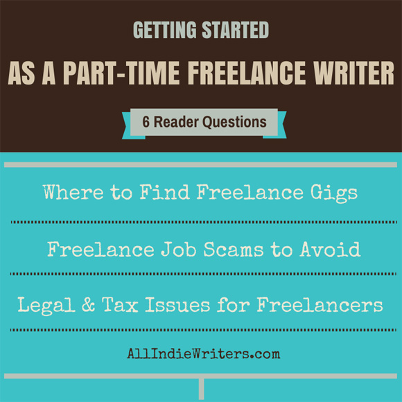 Part-time freelance writing questions