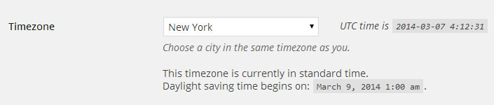 WordPress Timezone