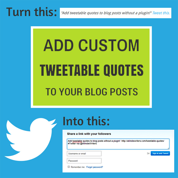 Add custom tweetable quotes to your blog posts