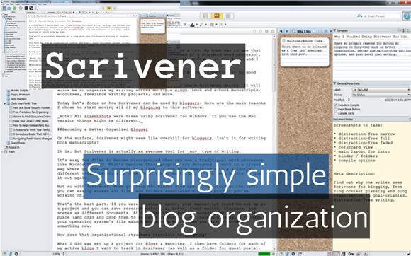 Scrivener: Surprisingly Simple Blog Organization