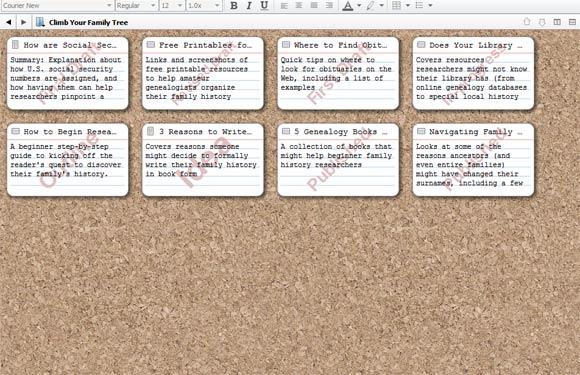scrivener corkboard view