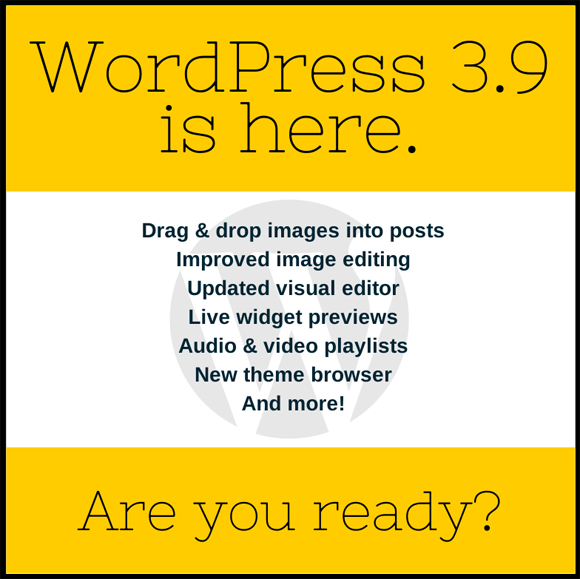 WordPress 3.9 is here.