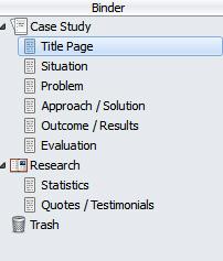 Scrivener case study template