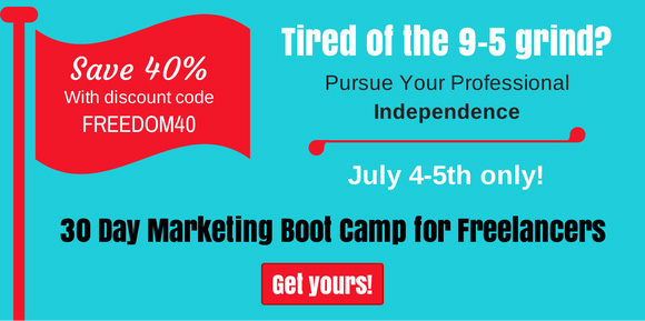 40 Percent Off the 30 Day Marketing Boot Camp E-book