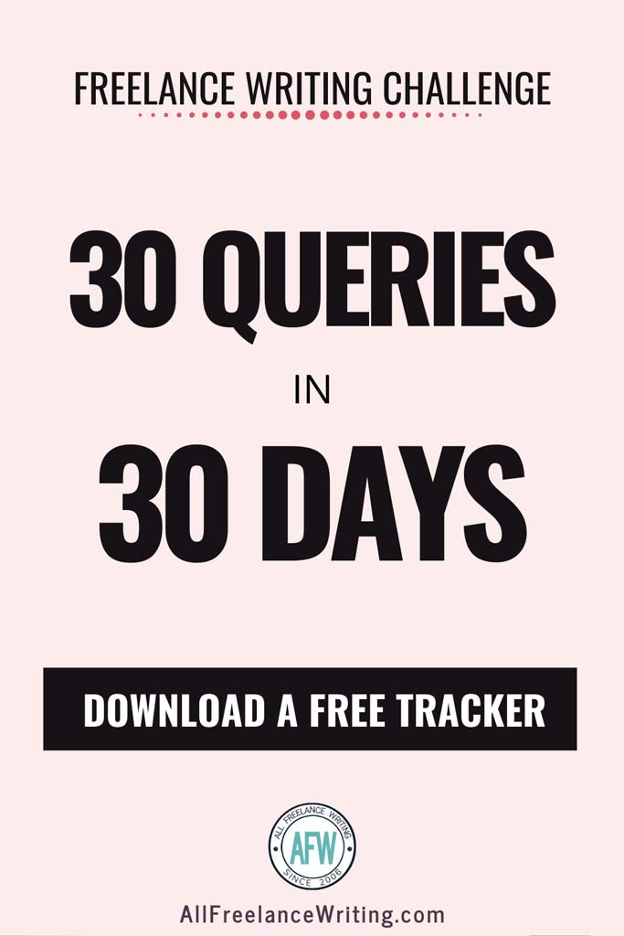 30 Queries in 30 Days Freelance Writing Challenge - All Freelance Writing