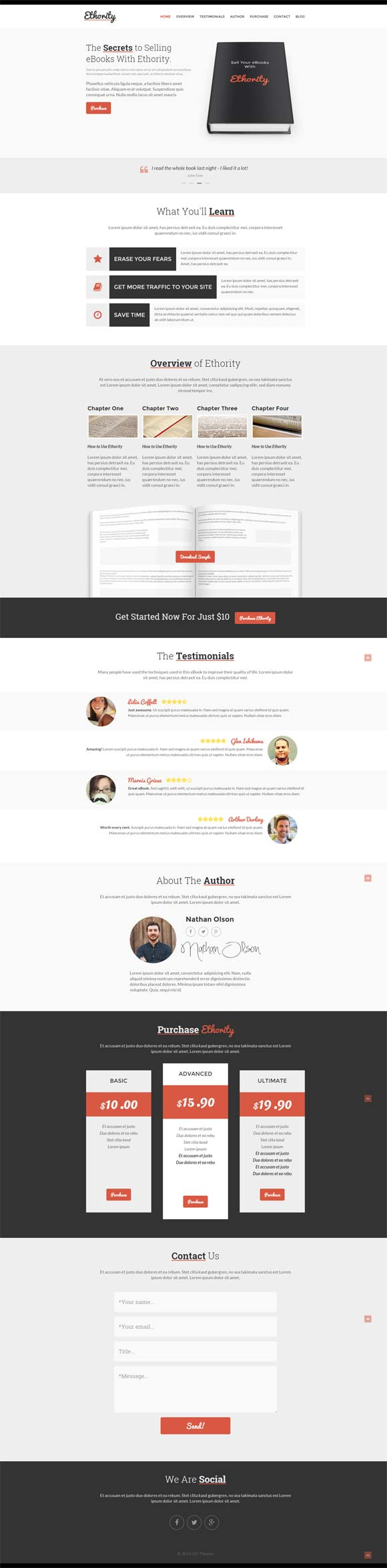 Ethority WordPress Theme for Authors