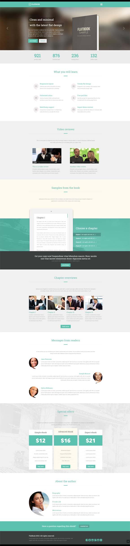 FlatBook WordPress Theme for Authors