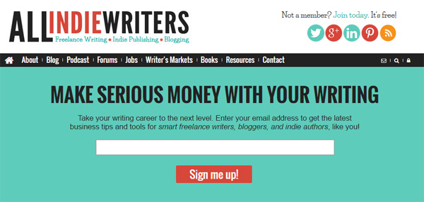All Freelance Writing Static Homepage Content