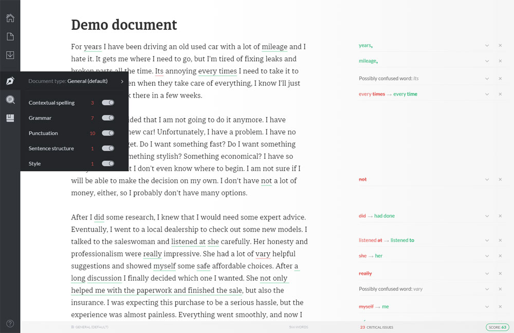 Grammarly Web App