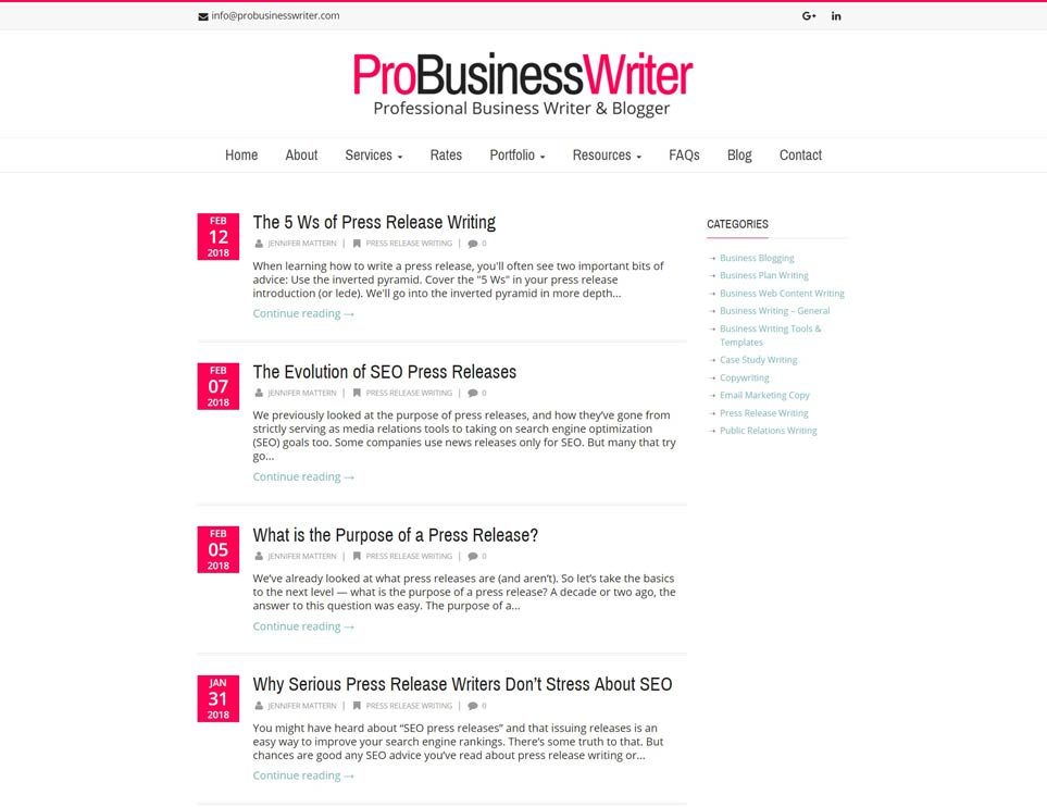 Pro Business Writer - Business Writing Blog