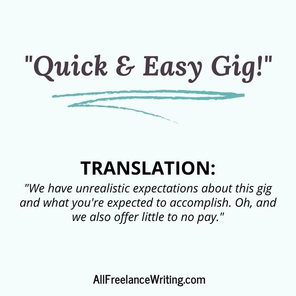 Freelance Writing Job Ad Translations - Quick and easy gig - Translation - We have unrealistic expectations about this gig and what you're expected to accomplish. Oh, and we also offer little to no pay - AllFreelanceWriting.com