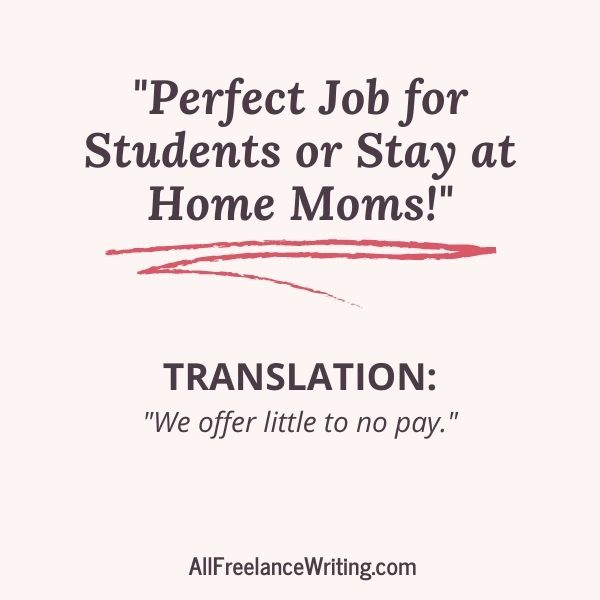 Freelance Writing Job Ad Translations - Perfect job for students or stay at home moms - Translation - We offer little to no pay - AllFreelanceWriting.com