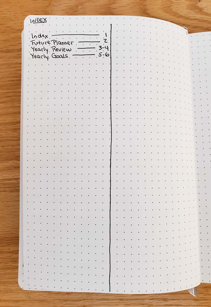 Bullet Journal Index Page - AllFreelanceWriting.com